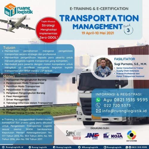 """Transportation Management"" Batch 3"